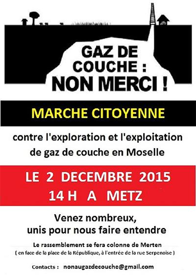 Affiche manifestation- Gaz de souche
