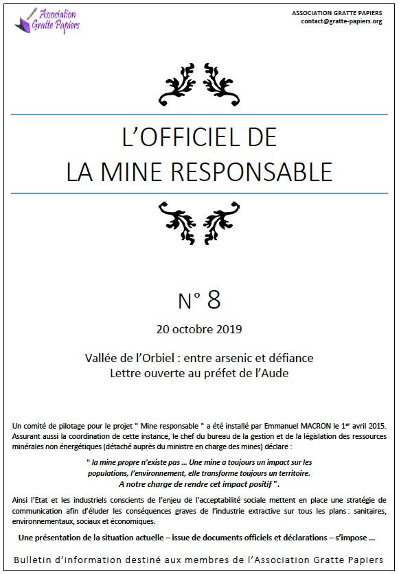 Officiel Mine Responsable