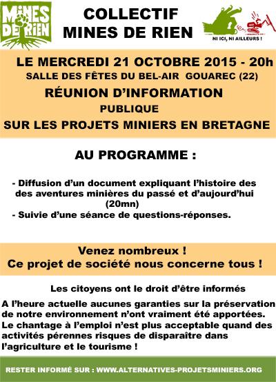 Reunion publique d'information - Gouarec 21-10-2015
