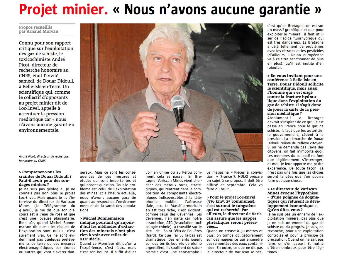Interview d'André Picot