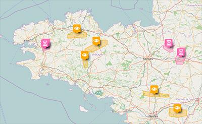 Carte interactive des projets miniers en France