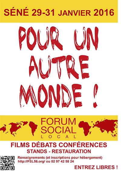 Affiche Forum Social Séné