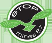 logo Stop Mines 87