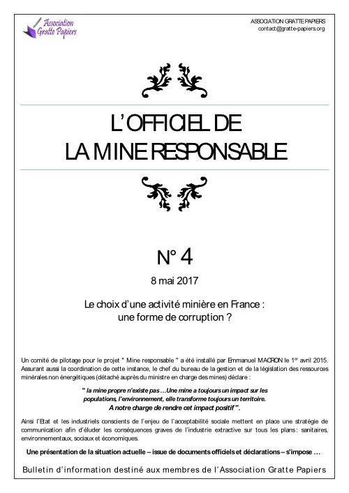Officiel des mines n°4