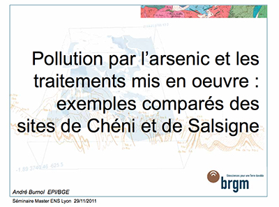 pollution arsenic Salsigne brgm 29-11-2011
