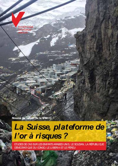 La Suisse, plateforme de l'or à risques ?