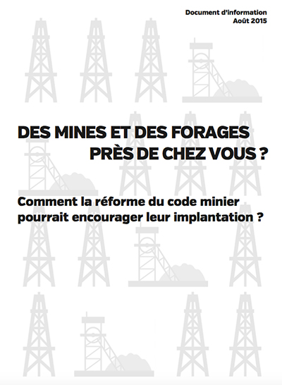Document d'information de la réforme du code minier