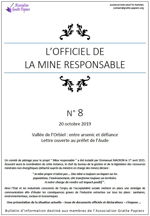 Officiel Mine Responsable